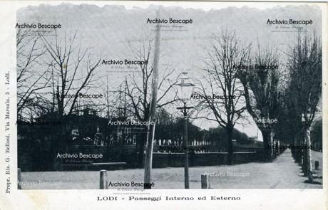 Lodi - Passeggio Esterno poi Viale Pavia (attuale Viale Agnelli e Viale Vignati)