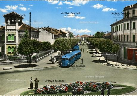Lodi - Via della stazione (attuale Viale Dante Alighieri)